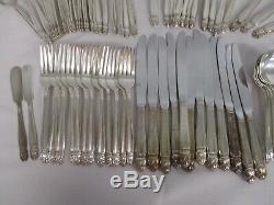 84 Pcs Holmes & Edwards Danish Princess Silverplate Flatware Set