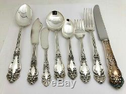 86 Piece Reed & Barton Tiger Lilly Pattern Silverplate Flatware Set