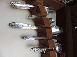 89 pc Princess Royal International Silver Silverplate Flatware Set Service for 8