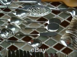 89pcs PRESTIGE SILVER PLATE Flatware Set BORDEAUX Serves 12 Serving Pieces & BOX