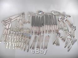 91 pcs. 1923 Bird of Paradise Community Silver Plate Flatware Set
