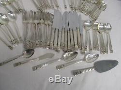 93 Pcs Vintage Community Coronation Silverplate Flatware Set