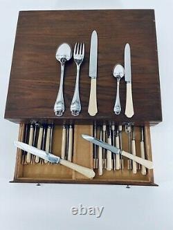 ALFENIDE Christofle POMPADOUR LOUIS XV Flateware Dinner Set Rococo 12Plc 61 Pcs
