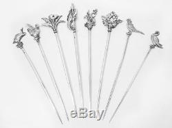 A Set Of Eight French Silver Plated Skewers By Christofle