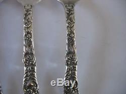 Anchor Rogers Silverplate Chevalier Chrysanthemum set of 6 Forks 7 1/2 c1895