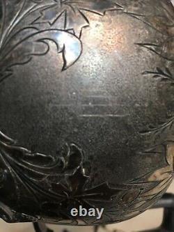 Antique Aesthetic Era Wilcox Silver Plate Tea Set With Rams Head Hoof Decorations