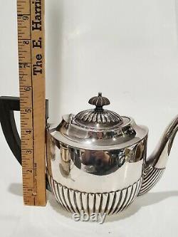 Antique Art Deco Meriden B. Company / Warwick Silverplate 4-Piece Tea Coffee Set