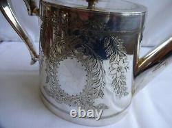 Antique Art Nouveau 4 Piece Silver Plate Epns Tea Set J B Chaterley, Birmingham