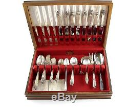Antique PRELUDE 61 Pieces Sterling Silver Flatware Set