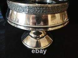 Antique Pairpoint Castor Condiment Cruet Set 6 pc Ruby Cut To Clear