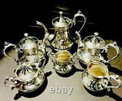 Antique Reed & Barton Silver Plate 6 Piece Art Nouveau Tea Set #2710