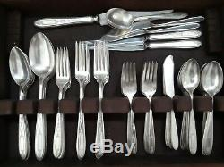 Antique Silver Plated Flatware Set By COMMUNITY, Pattern GROSVENOR 81 Pices