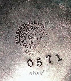 Antique Victorian Quadruple Wilcox Silver Plate Etched Cruet Set Hard To Find