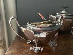 Antique Victorian Silver Plate Tea Set Circa 1862 97