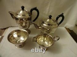 Art Deco Silver plated EPNS A1 4 Piece Tea set, Sheffield