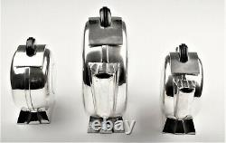 Art Deco silverplate tea / coffee set (3 pieces)