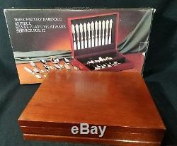 BAROQUE BY GODINGER Rare Pattern Silverplate Flatware set of 65 pc