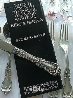 BURGUNDY by REED & BARTON STERLING SILVER FLATWARE SERVICE SET 30 PIECES NEW