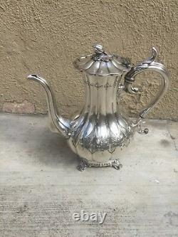 Beautiful Hand Chased 5 Pc Sheffield Silver Plated Tea Set