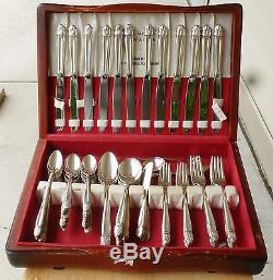 Beautiful Holmes & Edwards Silverplate Flatware Set, 1938 Danish Princess