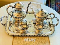 Birks Primrose Silver Plated Coffee Set