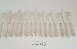 Birks Sterling Flatware Queens Fish Knife And Fork Set Of 16