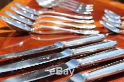 Brilliant Christofle Vendome Silver Plated Flatware 16 Pcs Set in 4 Settings