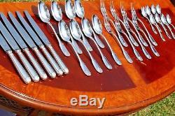 Brilliant Christofle Vendome Silver Plated Flatware 32 Pcs Set in 8 Settings