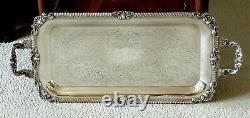 British Silver Tea Set Tray c1950 NO MONO