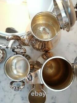 CHRISTOFLE GALLIA Silver plated Coffee Tea sugar creamer set France