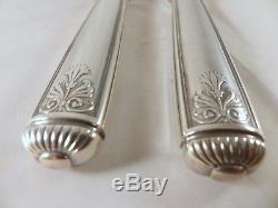 CHRISTOFLE MALMAISON Antique Carving set fork & knife RARE service à découper