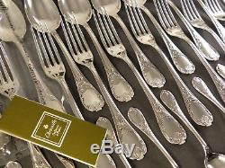 CHRISTOFLE MARLY Complete Table set 12 Place settings 49pieces MINT Ménagère NEW