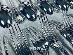 CHRISTOFLE MARLY Flateware Dinner Set Silver plate Louis XV 12 Plc 72 Pcs NEW