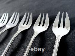 CHRISTOFLE MARLY Set 6 Oyster Forks // 6 fourchettes à huitre Brilliant Luster