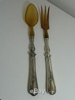 CHRISTOFLE MARLY VERY RARE SALAD SERVING SET OX 19th perfect