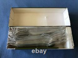 CHRISTOFLE Paris PORT-ROYAL Set of 10 Ice-Cream Spoons Silver-plated 6 NEW