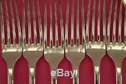 CLUNY SET Christofle Silver-plate Dinner Forks spoons knives FRANCE ANTIQUE