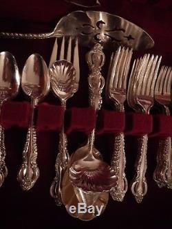 COUNTESS International Deep Silver plate set for 12 xtra tspns soup 8 serv pc