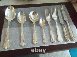 Canteen Of Silver Plate Royale Cutlery 8 Place Setting 58 Pieces Outstanding