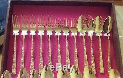 Carlotta Gold Plated 54 Piece Flatware Set