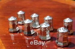 Cartier Sterling Silver Salt and Pepper Shakers Set of Eight