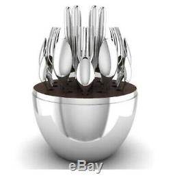 Christofle 24-Piece Silver Plated Flatware Set with Mood Egg New
