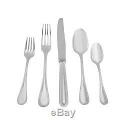 Christofle Albi 30pc Silver Plate Flatware Set (6x5pc) & Chest #0021830 B Nib Fs