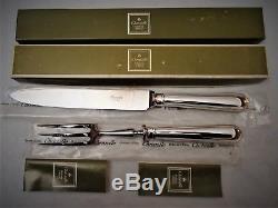 Christofle Albi Silver Plate SERVER SERVING SET TURKEY FORK & KNIFE + box
