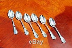 Christofle Albi Silver plated Demitasse Espresso Moka Spoons Set of Six