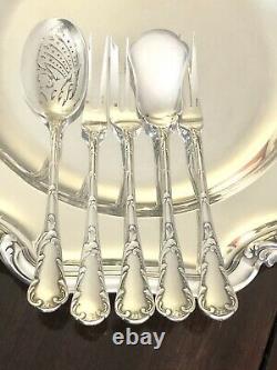 Christofle Antique Chrysanthemum Silverplated Cocktail Appetizer Set 5 Pcs