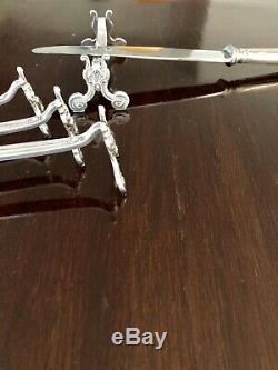Christofle Antique Silver Plated Knife Rest Set Of 12