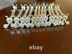 Christofle Antique Silver Plated Knife Rest Set Of 12 Pcs