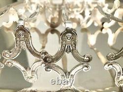 Christofle Antique Silver Plated Marie Antoinette Knife Rest Set Of 6 Pcs