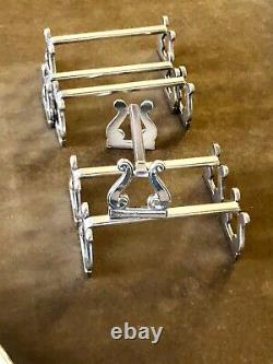 Christofle Antique Silver Plated Unusual Set Of 6 Knife Rest